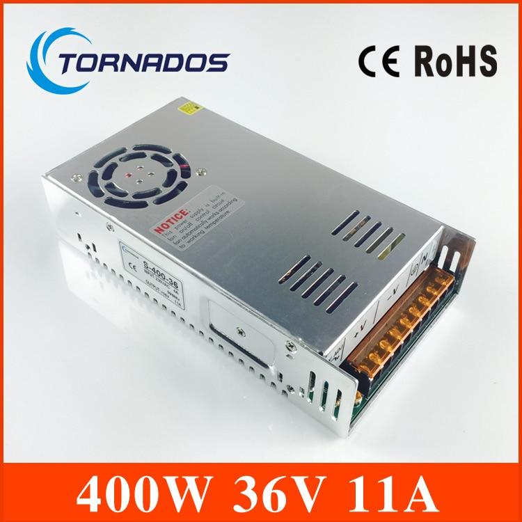 400W 36V 11A Single Output Switching power supply S-400-36 for LED Strip light AC to DC 400w s400w 36v 11a led switching power supply 36v 11a 85 265ac input ce rosh power suply 36v output