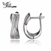 JewelryPalace Elegante Infinito Aniversario Pendientes de Clip 925 Silve Pendientes Exquisito Regalo de la Joyería del Partido de Compromiso