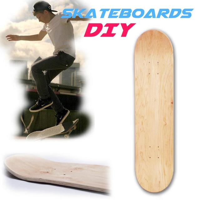 DIY Personalized Design 8inch 8-Layer Maple Blank Double Concave Natural Skate Deck Board Skateboards Deck Wood Skateboards