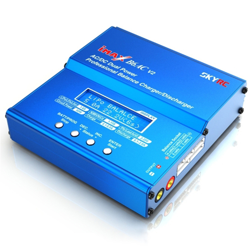 iMAX B6AC V2 6A Lipo LiFe LiIon LCD Display Battery Balance Charger / Discharger For Charging Re-peak Mod RC Model Battery parts