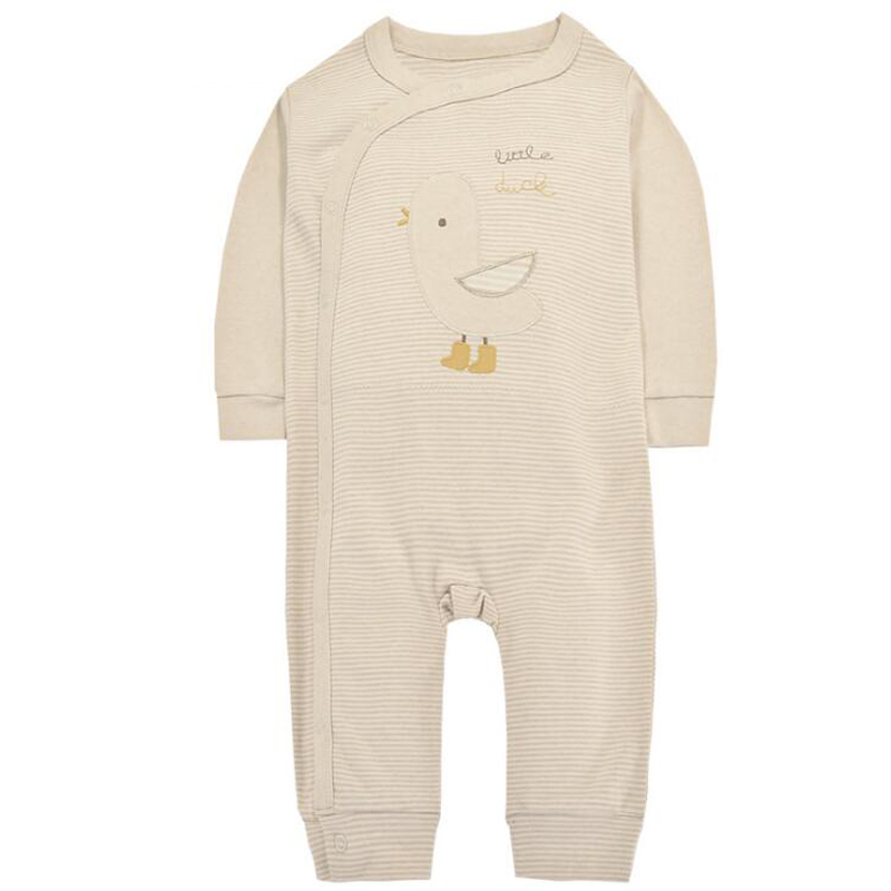 y386 New 2017 baby cotton cartoon clothes long sleeve infant Girls Overalls Newborn Baby Clothing Infant Creeper Duckling jersey