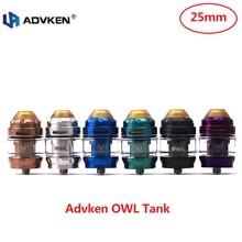 Electronic Cigarette Advken OWL Sub Ohm Tank 3ml/4ml Capacity &25mm Tank with 0.16ohm/0.2ohm Mesh Coil Sub Ohm Vape Atomizer