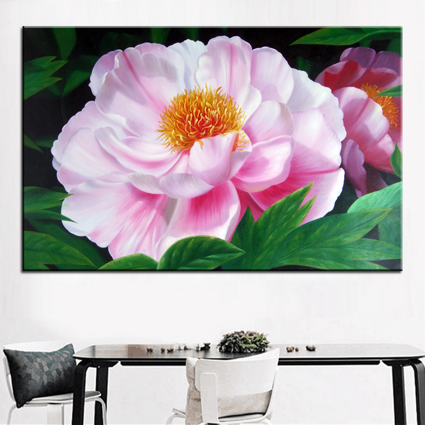 Best Dp Print No 329 Flower Wall Painting Amazing Oil Color Ideas Your Home Picture Art Decor Framed