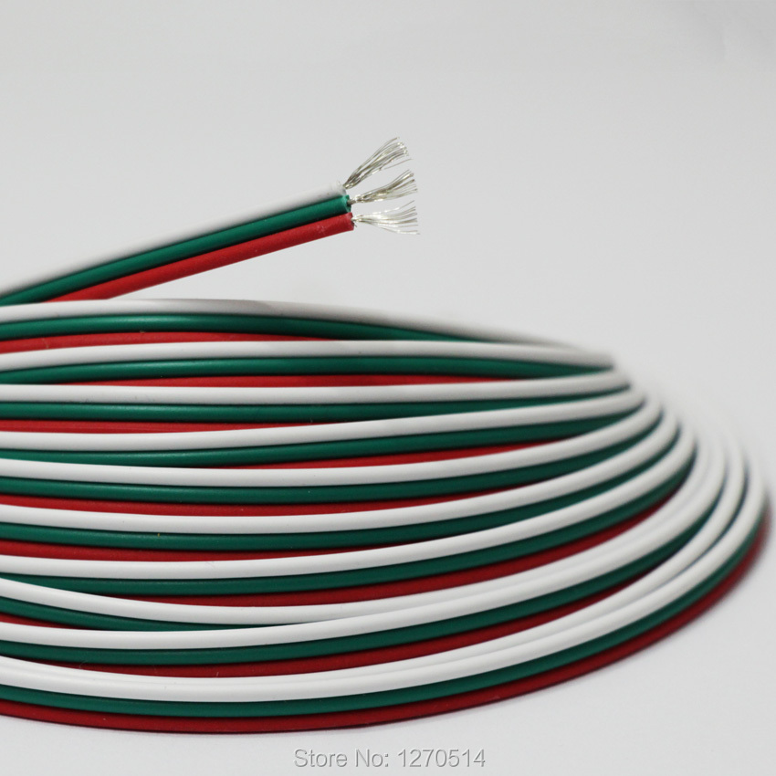Tinned copper cable, 22AWG 3 pin RGB cable, PVC insulated wire ...