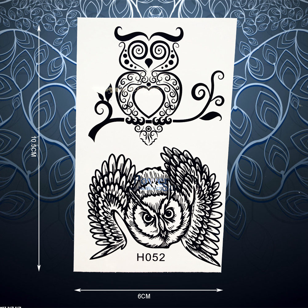 Cute Wise Owl Branch Temporary Tattoo Stickers For Men Women Waterproof Body Art Decals Arm Leg Fake Owl Tattoo Stickers Ph052 Diversified Latest Designs Tattoo & Body Art Beauty & Health