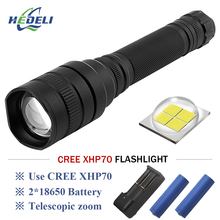 xhp70 tactical flashlight Hard Light LED torch 18650 lanterna XHP70 high power rechargeable bike fishing light
