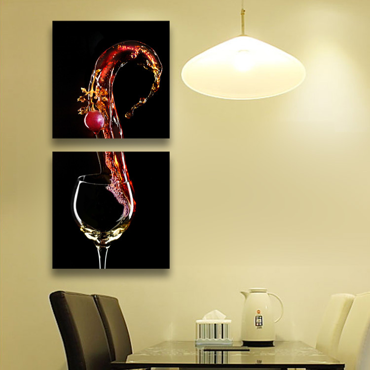 Free shipping 3 PANELS home decor wall decorative painting wine ...