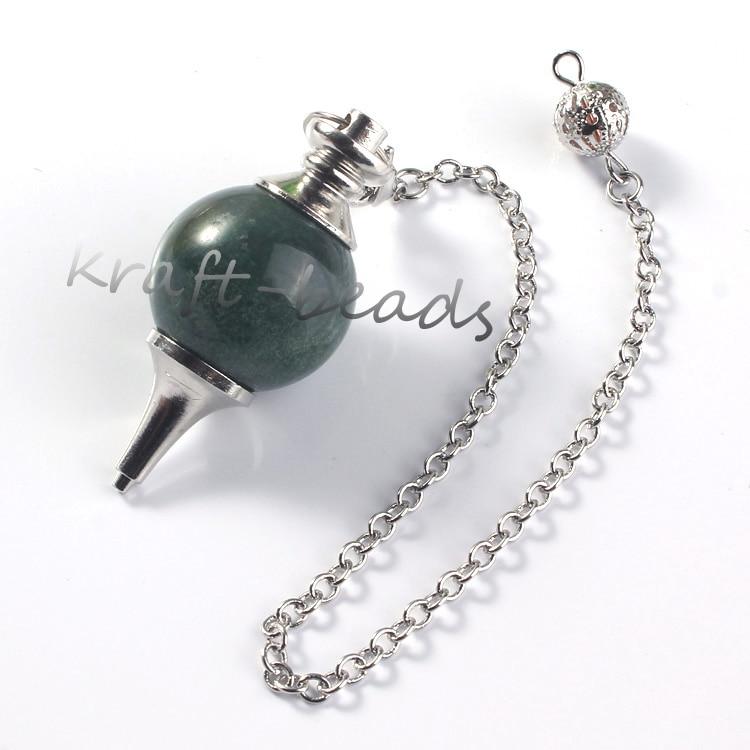Image 5 - wholesale 10 Pcs Charm mixture precious stone Silvery Metal Ball  Chain Dowsing Healing Chakra Pendulum Gifthealing chakrachakra  pendulumprecious stones