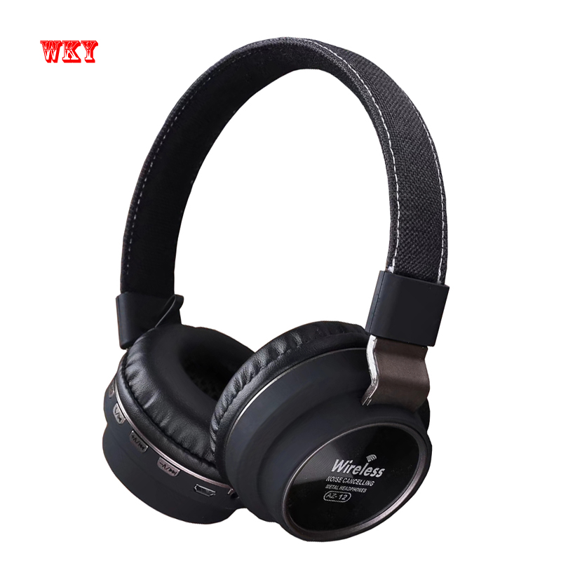 WKY Official Headphones Bluetooth 4.2 High Quality HD Stereo Wireless Active Noise Cancelling Headset Support TF Card with Mic ks 508 mp3 player stereo headset headphones w tf card slot fm black