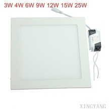 square led downlight led panel light recessed led ceiling downlight light with driver 3w4w - Square Recessed Lighting