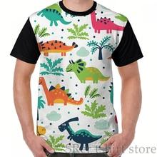 Забавный принт, Мужская футболка, женские топы, футболка с динозавром, милый Принт ABDL, для взрослых и детей, для Littles AWC, графическая футболка, футболки с круглым вырезом