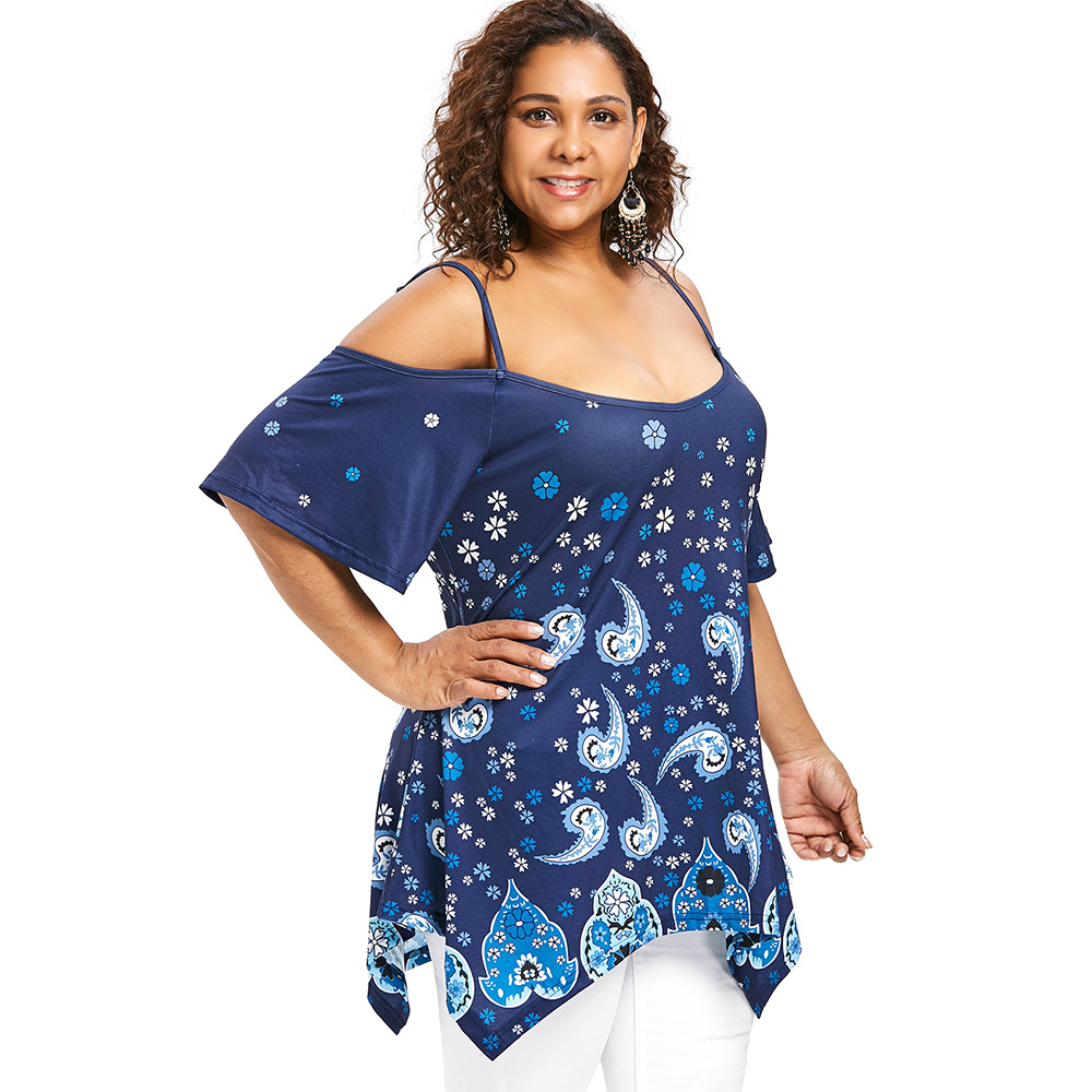 252f2b1a107be Kenancy 4XL Plus Size Ethnic Slip Longline T shirt-in T-Shirts from Women s  Clothing   Accessories on Aliexpress.com