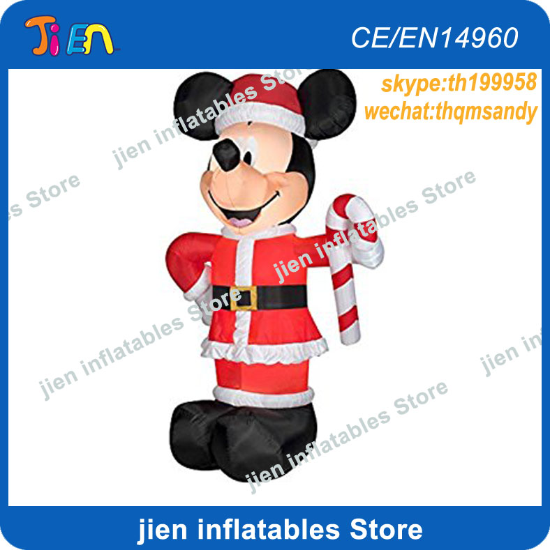 free air shipping to door10ft3m christmas decoration inflatable mickey mouse cartoon with crutch in inflatable bouncers from toys hobbies on - Mickey Inflatable Christmas Decorations