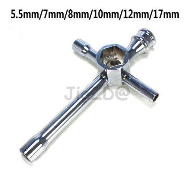 Alliage daluminium grande clé à six pans creux pour 1/10 HSP modèle voiture grande croix écrou hexagonal clé douille 5.5mm 7mm 8mm 10mm 17mm