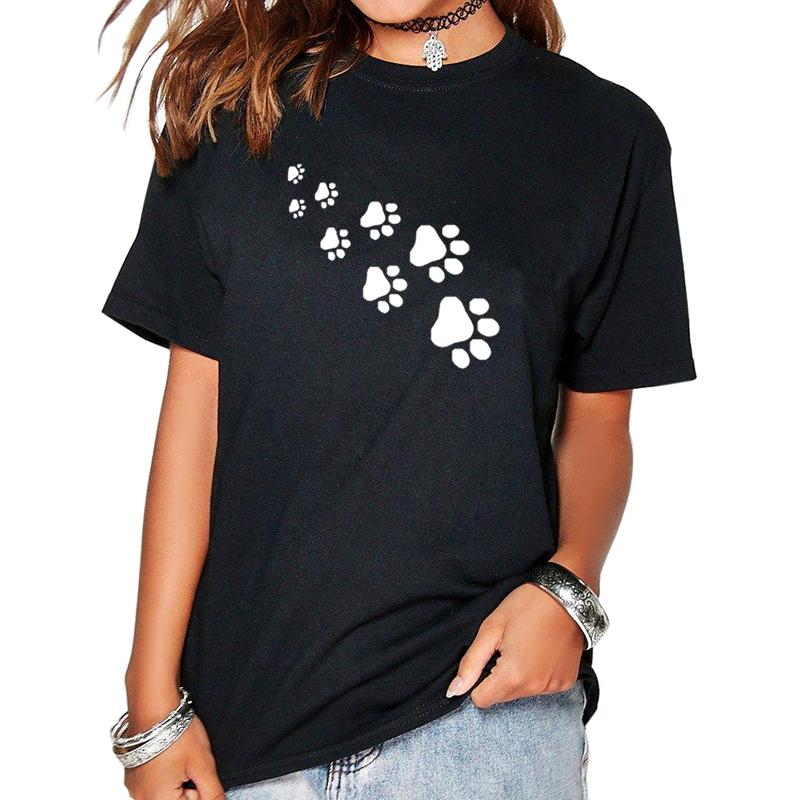 Womens Funny Paws Print T-Shirt