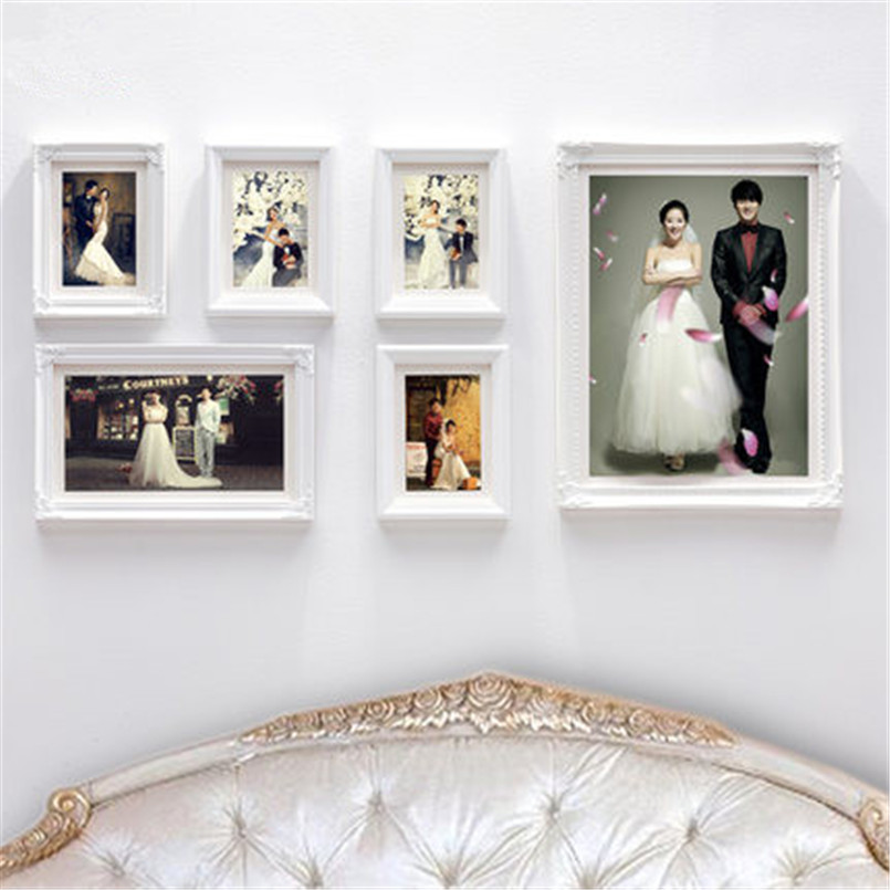 Wall collage frames 2016 multi frame wood baby picture home decor photo frames bridal shower - Home decor picture ...
