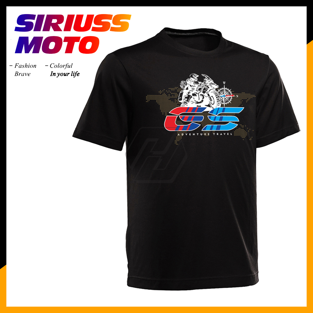 Motorcycle O-Neck Printed T-<font><b>Shirt</b></font> Short Sleeve T <font><b>Shirt</b></font> Case for <font><b>BMW</b></font> R1200GS R1200 GS Adventure T <font><b>Shirt</b></font> image