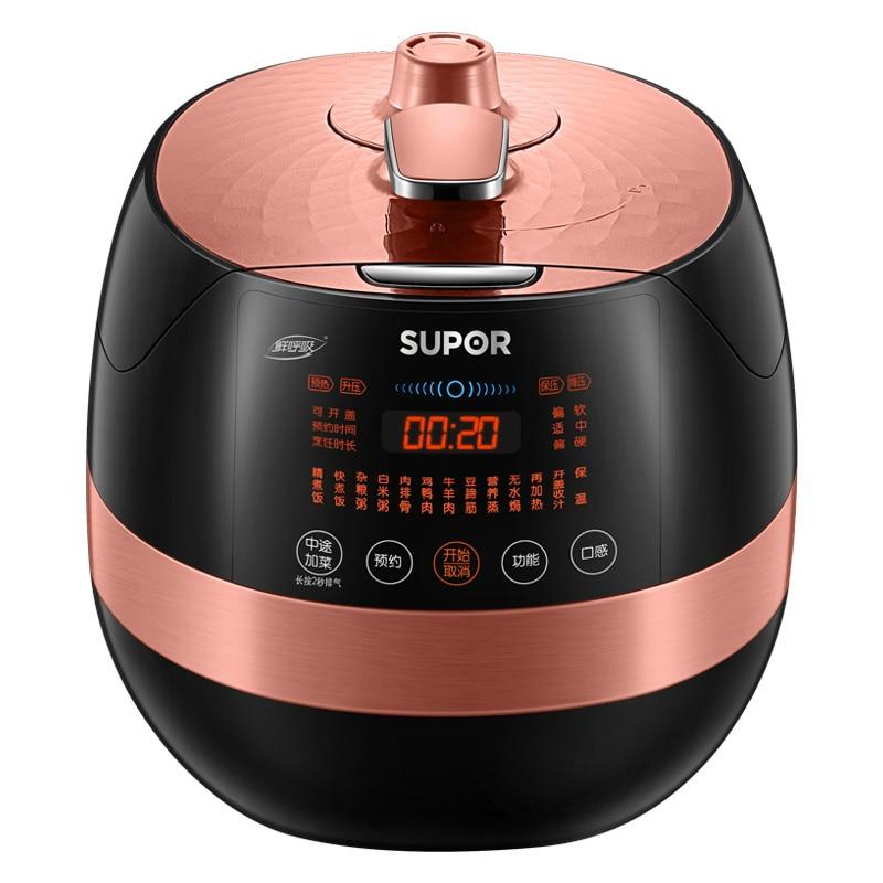 Cuiseur de riz Multi électrique de cuiseur de pression de forme de pomme de Supor avec 2 Pots Pot Intelligent de cuiseur de mouton de viande de Beaf de 220 V 5L