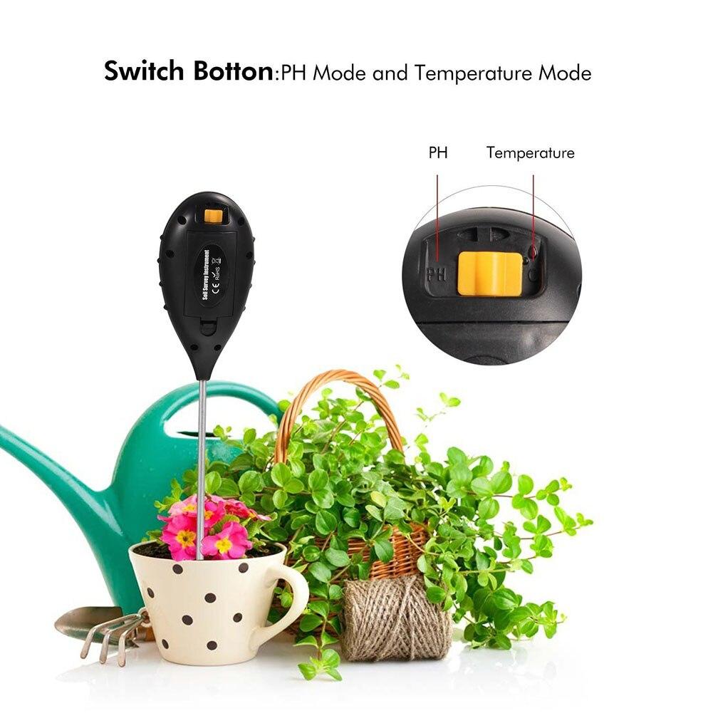 4 in 1 Soil Teser Moisture Meter PH Level Temperature Sunlight Lux Intensity Instrument for Garden Farm Lawn Plant Grain LB88
