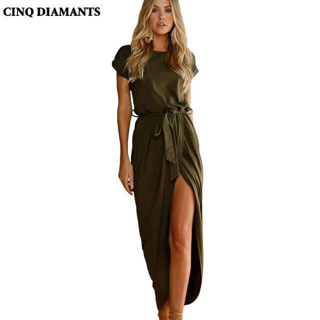 Lange jurk korte mouw