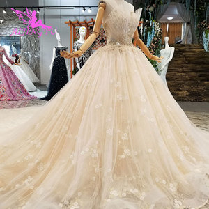 Image 2 - AIJINGYU engagement The Bride Dresses Gothic Wedding Korean Store Real Photo Belarus For Sale Gown Outlet White New Gown