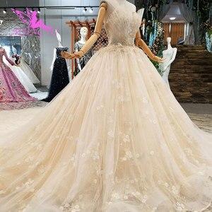 Image 2 - AIJINGYU אירוסין הכלה שמלות גותי חתונה קוריאני חנות אמיתי תמונה בלארוס למכירה שמלת Outlet לבן חדש שמלה