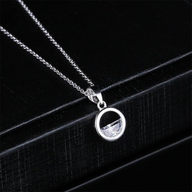 Collar con colgante de cadena de Color oro blanco y agua con diseño de clavícula de estilo coreano sencillo de doble feria KBN445