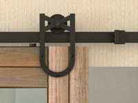 New Horseshoe Design Double Sliding Barn Door Track Heavy Duty Sliding Track Barn Door Hardware