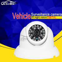New Style White Dom Mini Indoor CCD Camera Frosted Metal Inside Vehicle Analog Camera 700tvl 4pin CCTV Bus Camera