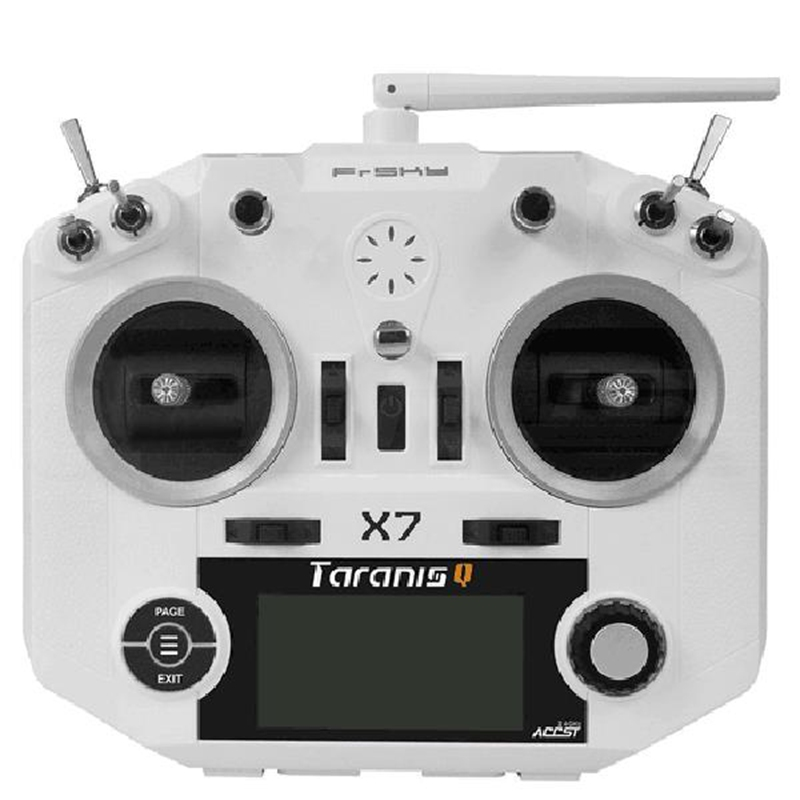 FrSky ACCST Taranis Q X7 QX7 2.4 GHz 16CH Trasmettitore bianco/colore nero