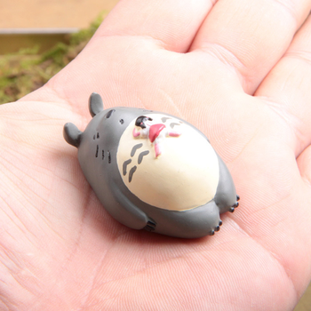 Resin Miyazaki Totoro Ornaments Figurines Animal Miniatures Living Room Bedroom Study Office Garden Decoration Crafts Gifts Home 1