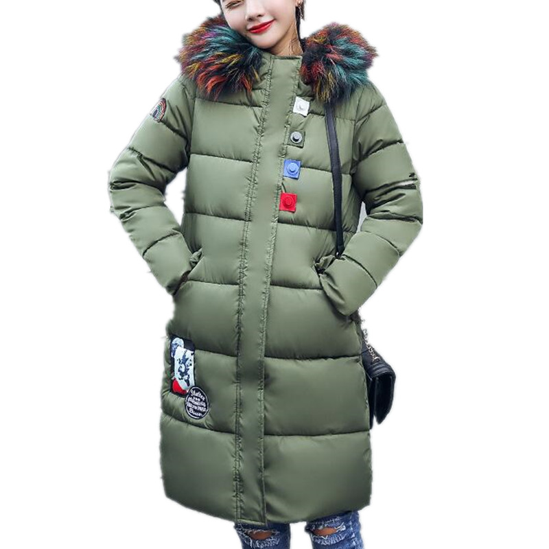 ForeMode Women Winter Long Coat Female Heavy Fur Hooded Warm Jacket Button Pockets Thick Parkas