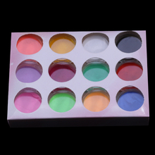 12 Colors Acrylic Powder Dust UV Gel Design 3D Tips Decoration Manicure Nail Art