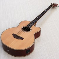 small problem factory made 4 string acoustic bass guitar with electro