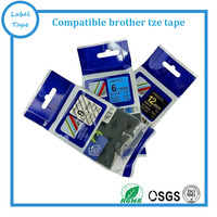 Tze122 Tze 122 Tze 122 tz 122 9mm tz tape Compatible Brother P touch Red on Clear tape p touch brother p touchtz tape -