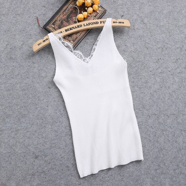 Women's Plain, V Neck Camisole