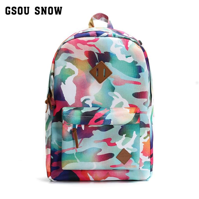 ФОТО Gsou SNOW sport bag hiking travel backpack waterproof camping gym bag camouflage military green rucksack sporttas 20L