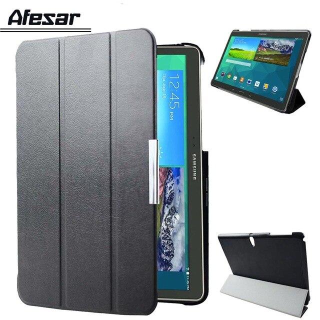 SM T800 T805c ultra slim smart stand Flip caso de la cubierta para Samsung Galaxy Tab S 10,5 tablet soporte y autosleep magnético caso de la cubierta
