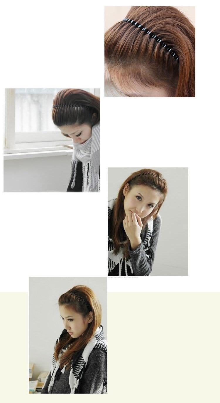 #AD17049 New Hair Hoop Hair Accessories For Women/Men Unisex Fashion Black Color Wavy Metal Hair Hoop Hairband