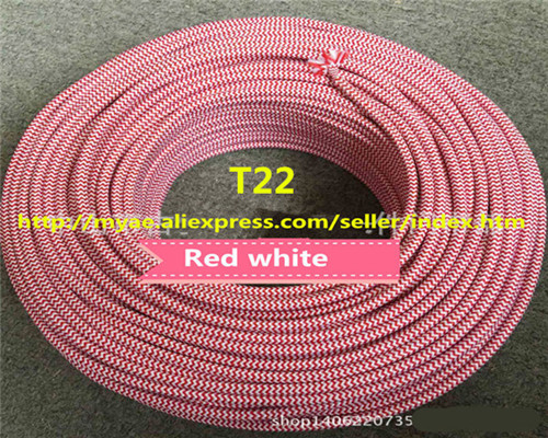 2*0.75mm Copper Cloth Covered Electrical Wire Vintage Style Lamp Cord Antique Decorative braided cable
