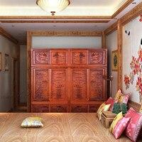 Китайский Мин и Цин классического гардероба палисандр резьба дома номер шкаф твердой древесины комод антикварный шкаф Padauk ящиками