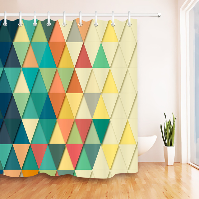 Colorful Geometric Retro Shower Curtain