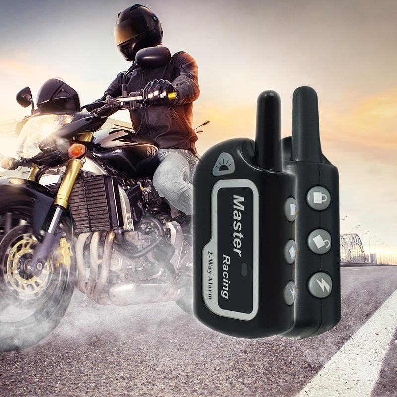 Dual Remote Engine Start/Stop Motorcycle Alarm System DC 12V Scooter Two Way Alarms Motorbike Protection Systems Motor Alarma