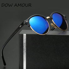 DOW AMOUR Classic Retro Designer Reflective Mirror 3016 Sunglasses Men Women Brand Vintage Rivet Frame Colorful Coating Shades