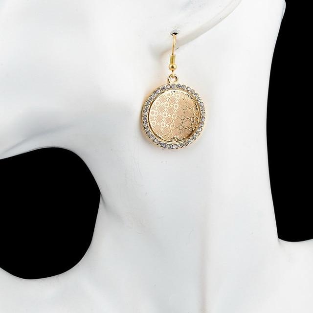 Женские серьги в форме дерева жизни chicvie круглые золотого
