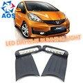 2PCs/set car styling LED DRL light Car daylight Daytime Running Lights For Honda Jazz Fit RS 2011 waterproof