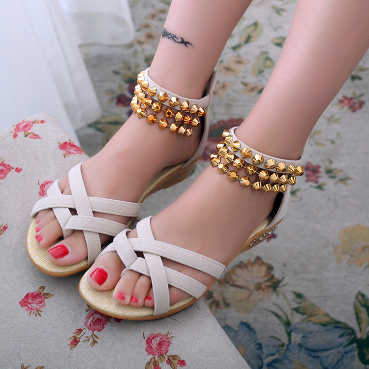 a8f7cda467f83 New style women s 2016 summer sandals fashion students with flat sandals  for women s shoes-in Women s Sandals from Shoes on Aliexpress.com