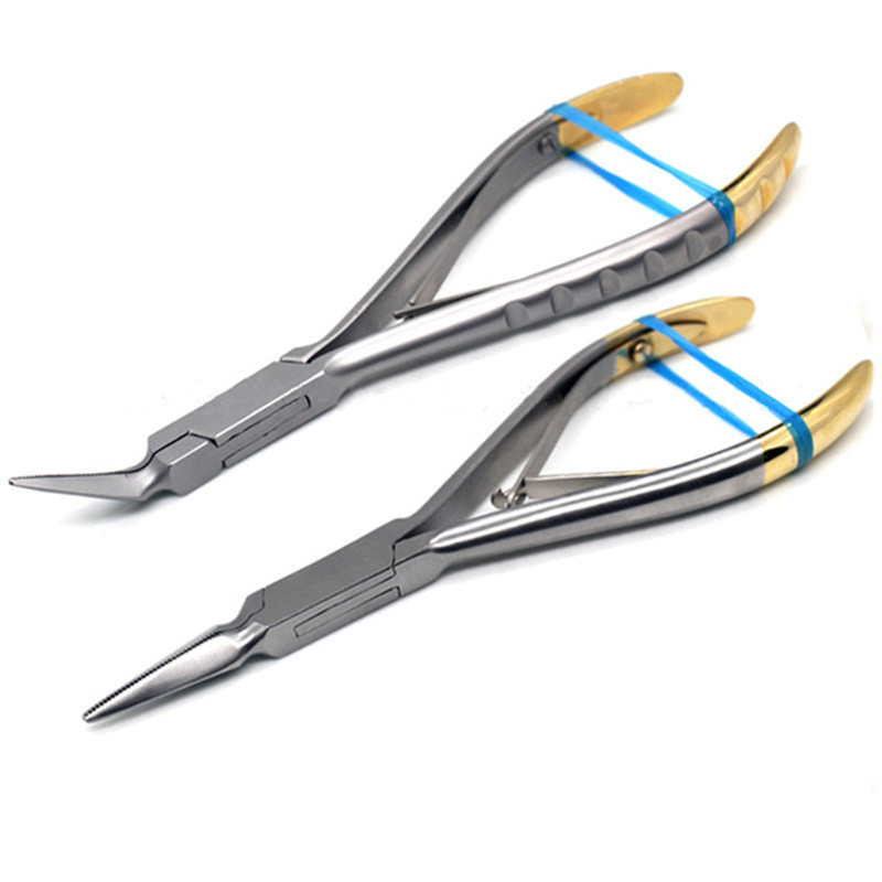 Dental Stump Tweezers Tooth Removal Tweezers Minimally Invasive Grip Tooth Forceps Straight / Curved For Choose