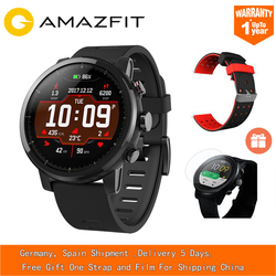 EU ES Huami Amazfit Stratos Smart Pace 2 Smart Sports Watch 5ATM Waterproof 1.34'' 2.5D Screen GPS Xiaomi Watches Smartwatch