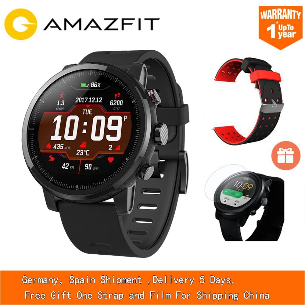 L'UE ES Huami Amazfit Stratos Smart Rythme 2 Intelligents Sport Montre 5ATM Étanche 1.34 ''2.5D Écran GPS Xiaomi Montres smartwatch
